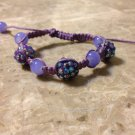 Rhinestone Shamballa Light Purple