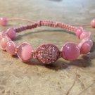 Rhinestone Shamballa Pink
