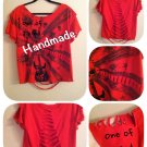 Red Skull Cut up T-Shirt