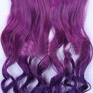 Purple Curly Ombre Clip in Hair Extensions