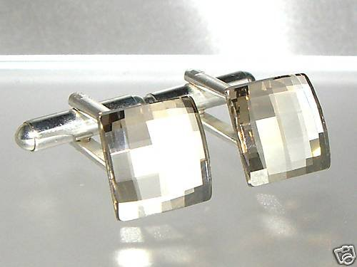 Silver Shadow Cufflinks made with SWAROVSKI ELEMENTS