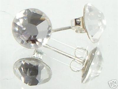 7mm Wedding Bridal Clear Crystal Stud Earrings made with SWAROVSKI ELEMENTS