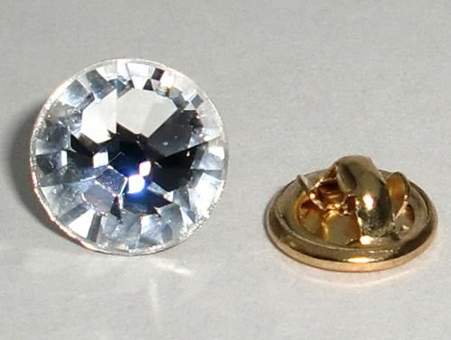 11mm Wedding Crystal Lapel Tack Tie Pin Page Boy made with SWAROVSKI ELEMENTS