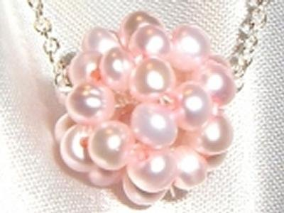 Wedding Bride Sterling Silver Freshwater Pearl Necklace