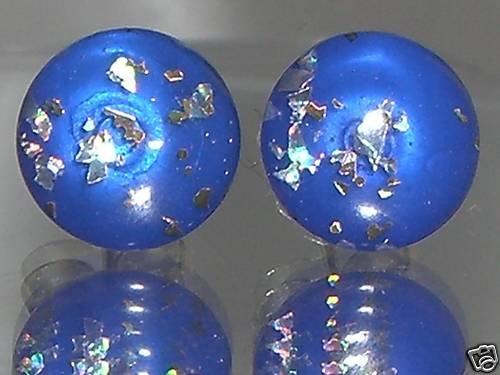 Blue Opal 8mm Stud Earrings Favours Gift