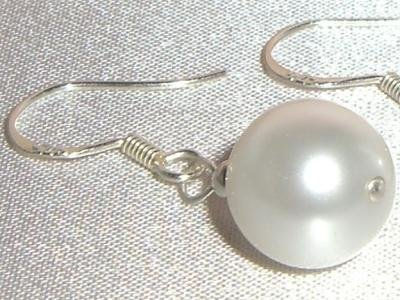 Sterling Silver Wedding Crysta Pearl Earrings made with SWAROVSKI ELEMENTS