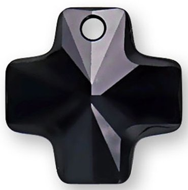 Crystal #6866 20mm Cross Pendant Jet SWAROVSKI ELEMENTS