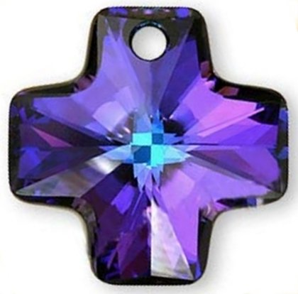 #6866 20mm Cross Pendant Heliotrope SWAROVSKI ELEMENTS
