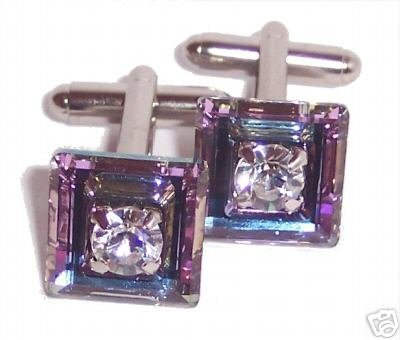 Vitrail Crystal Cufflinks made with SWAROVSKI ELEMENTS