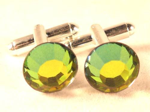 RARE! Wedding Gift Vitrail Medium Crystal Cufflinks made with SWAROVSKI ELEMENTS
