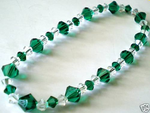 Wedding Valentine Xmas Emerald Crystal Bracelet made with SWAROVSKI ELEMENTS
