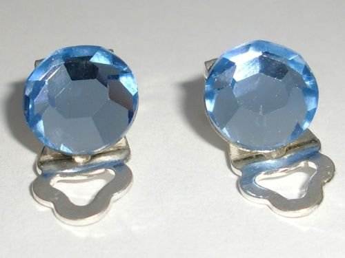 8.5mm Wedding Lt. Sapphire Crystal Clip-on Earrings made with SWAROVSKI ELEMENTS