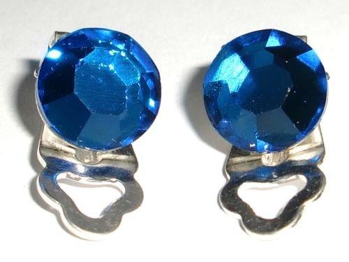 8.5mm Wedding Bridal Capri Crystal Clip Earrings made with SWAROVSKI ELEMENTS