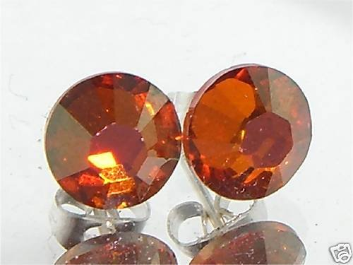 7mm Wedding Chilli Pepper Crystal Stud Earrings made with SWAROVSKI ELEMENTS