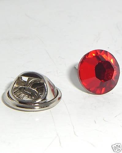 Red Crystal Tack Tie Pin made with SWAROVSKI ELEMENTS