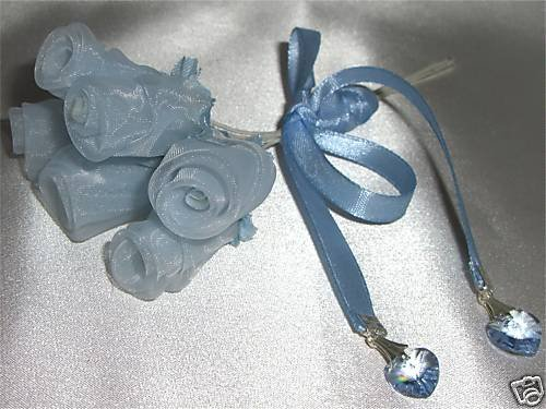 Wedding Bouquet Ribbon Crystal Heart Charm made with SWAROVSKI ELEMENTS