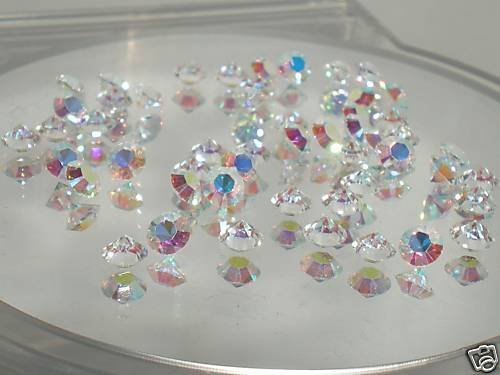 50 5.3mm Clear AB Table Crystals SWAROVSKI ELEMENTS