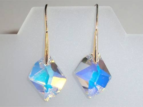 Xmas Wedding Valentine Cosmic Crystal AB Earings made with SWAROVSKI ELEMENTS