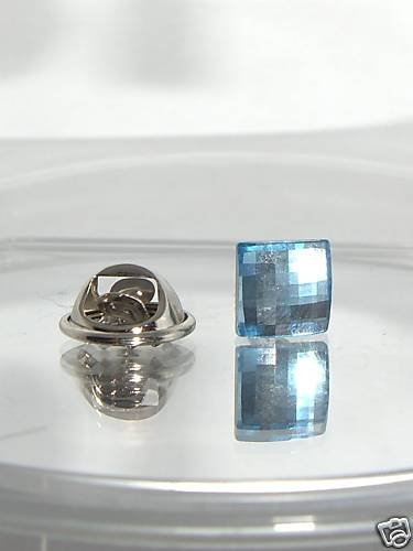Chess Crystal Tie Pin Tack made with SWAROVSKI ELEMENTS