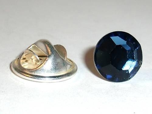 8.5mm Wedding Crystal Montana Lapel Tack Tie Pin made with SWAROVSKI ELEMENTS