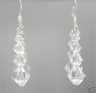 Sterling Silver 925 Valentine Xmas Crystal Earrings made with SWAROVSKI ELEMENTS