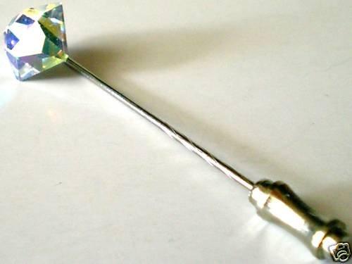 Wedding Groom Usher Gift Crystal Cravat Tie Pin  made with SWAROVSKI ELEMENTS