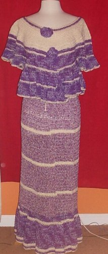 Original Design Hand Crochet Skirt Set