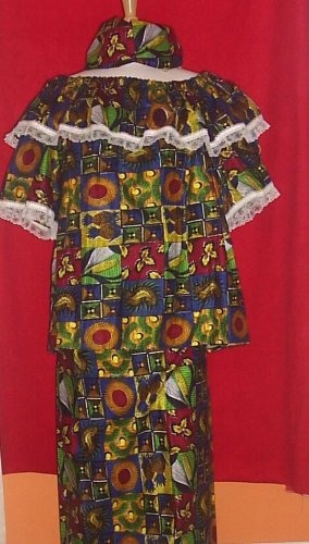 Two Piece Lappa and Top Set