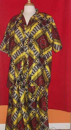 African Print Two Piece Set