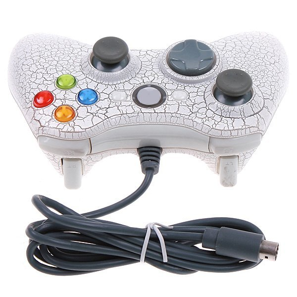 PC controller 2 in 1 Dual Shock Wired Game Controller For XBOX controller & PC Joysticks