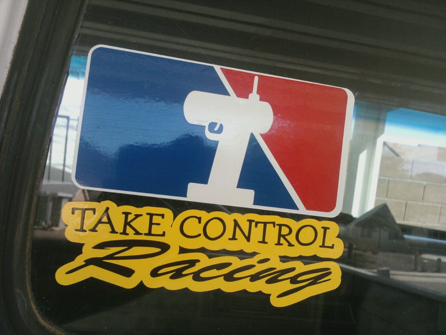5x6 Inch Full Color TAKE CONTROL RACING Decal