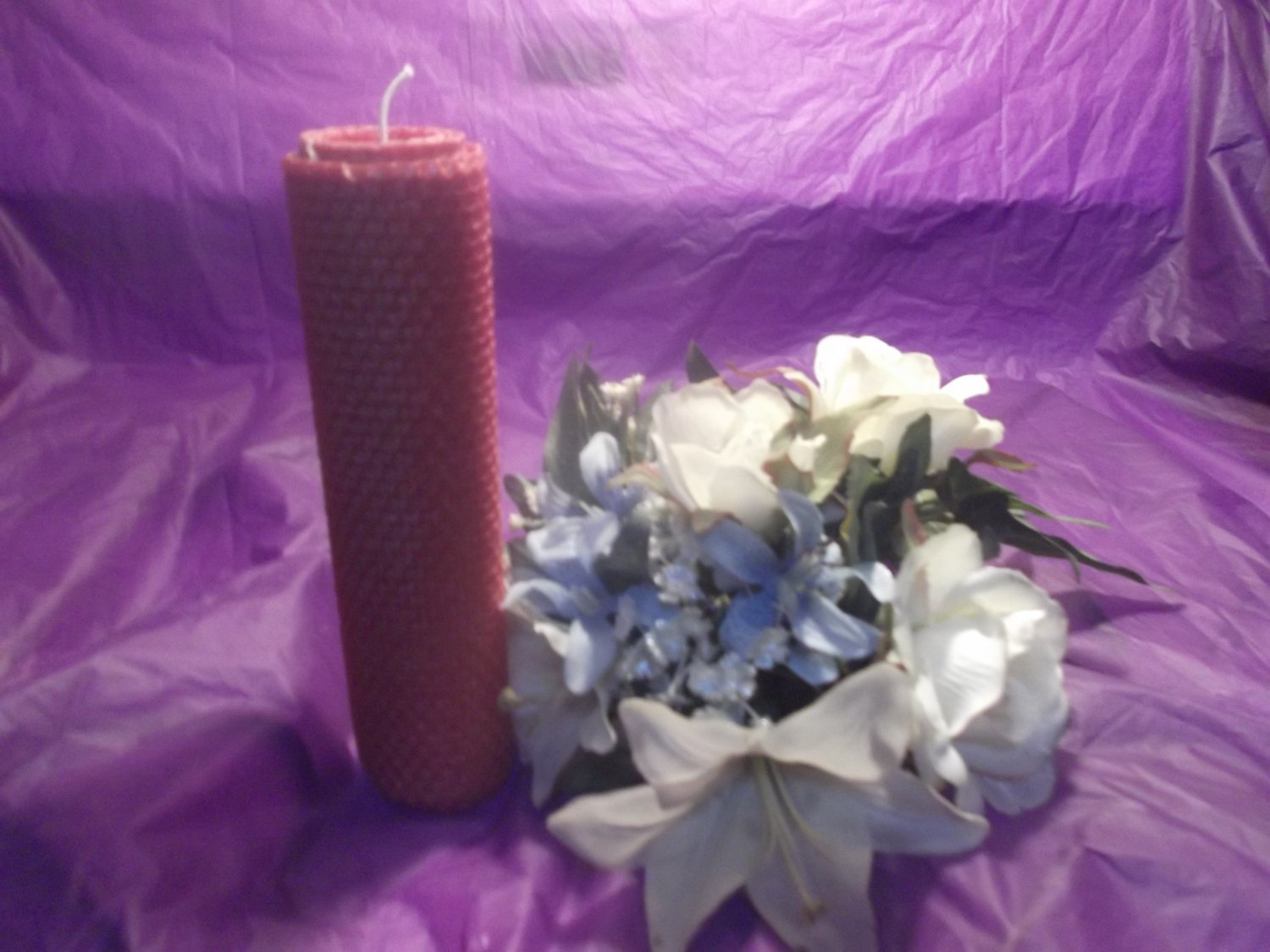 Layered Beeswax Pillar Candle 4 Pack