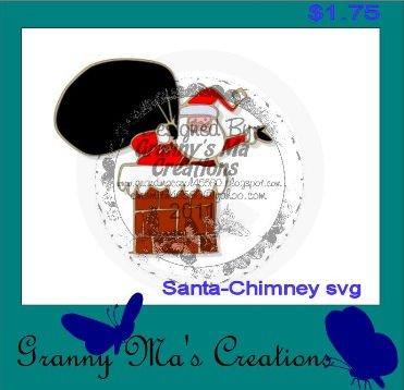 Santa-chimney