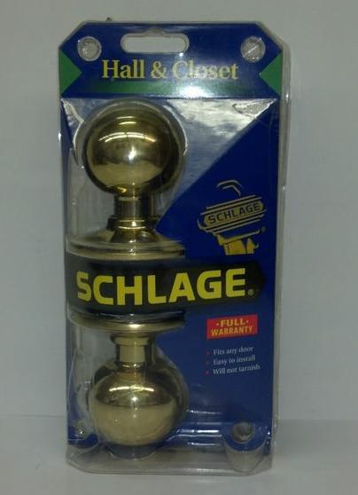 Schlage Doorknob - Hall & Closet