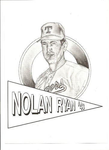 Nolan Ryan 8 x 10 1991 Art Error from Showcase Gallery