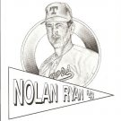 Nolan Ryan 8 x 10 1991 Art Error from Showcase Gallery