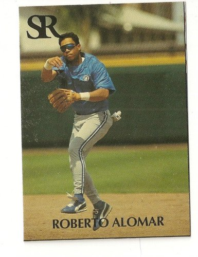 Roberto Alomar rare Printer's Proof or Error Card NO FOIL Sports Report #14 1992