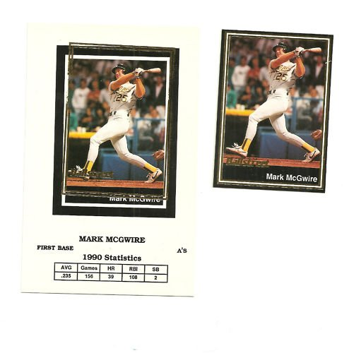 Rare Ballstreet Error Card Mark McGwire  LOT of 2 #27