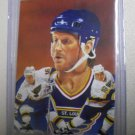 Bret Hull Hand Bonded Hockey Card Unique Black Linen paper back Rare Oddball