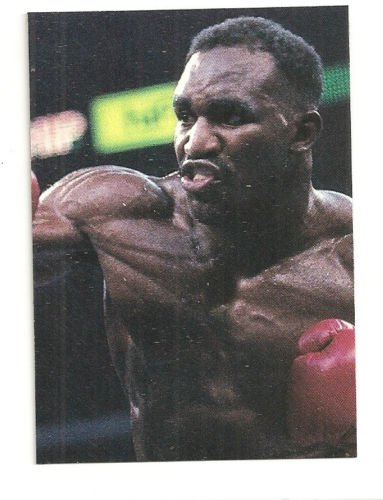 Evander Holyfield Hand Bonded Boxing Card Oddball Unique One of a kind