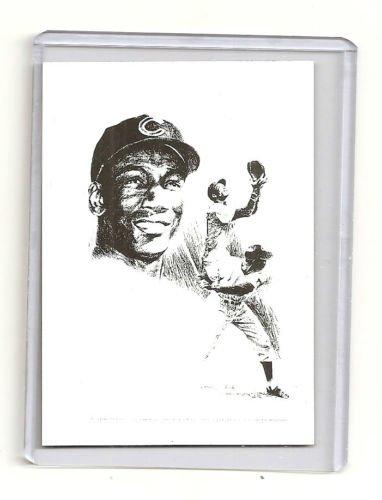 Ernie Banks Chicago Cubs Hand Bonded Magazine Artwork Card 1/1 Plain Back