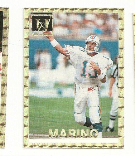 Dan Marino Error Variation Card IJ #6 1994 Foil