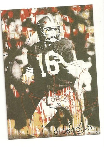Joe Montana Artwork Football card hand bonded from magazine Oddball Unique
