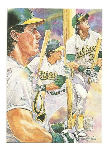 Jose Canseco Artwork card Hand Bonded from Magazine Artists Drawing Plain Back