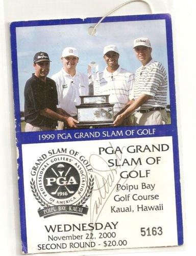 1999 Grand Slam  Golf Earl Woods Auto Tiger  Love Payne Stewart rare Poipu Bay