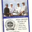 1999 Grand Slam  Golf Earl Woods Auto Tiger  Love Payne Stewart rare Poipu Bay