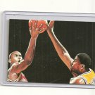 Magic Johnson Michael Jordan hand bonded card plain linen finish Unique 1/1