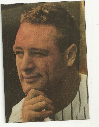 Lou Gehrig oddball hand- bonded Black Linnen Plain back card New York Yankees