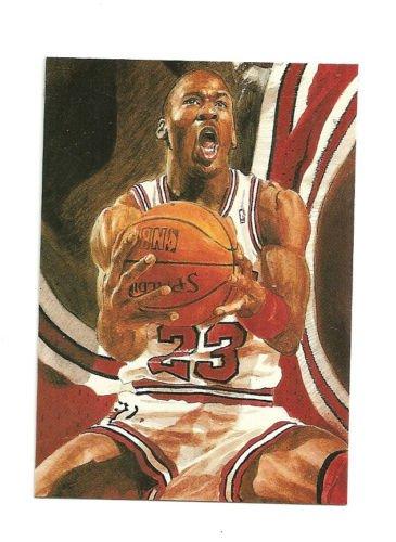 Michael Jordan Hand Bonded Trade Card 1/1 plain black back From Magazine