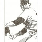 Nolan Ryan Hand bonded Oddball Artwork Card Plain Black Back from magazine